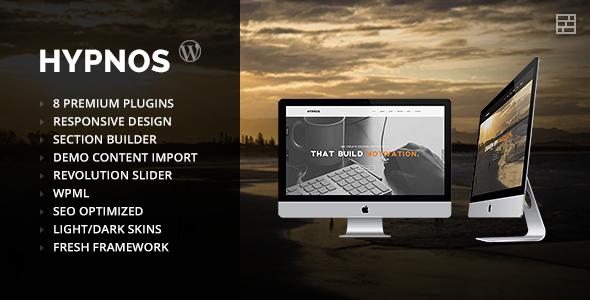 Hypnos - OnePage Parallax WordPress Theme - Portfolio Creative