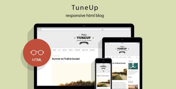 TuneUp - Responsive HTML5 Blog Template - Creative Site Templates