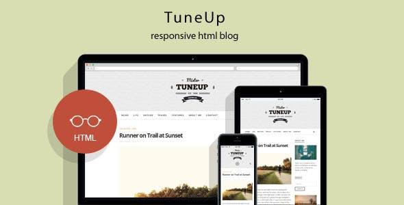 TuneUp - Responsive HTML5 Blog Template
