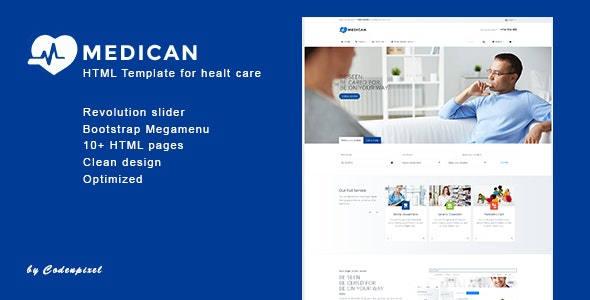 Medican - Health, Medical,Booking, Hospital Template - Site Templates
