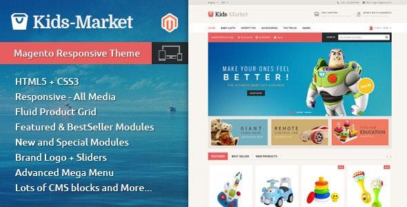 Kids Market - Magento Responsive Theme - Shopping Magento