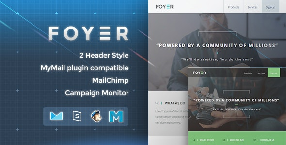 Foyer - Responsive Email Template - Newsletters Email Templates
