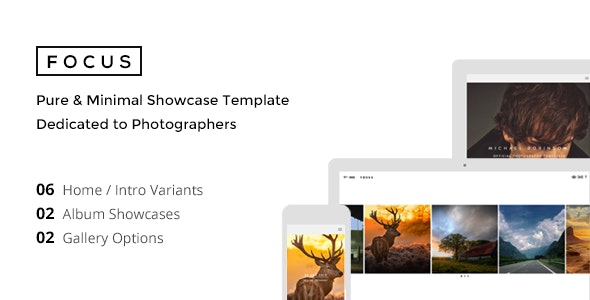 FOCUS - Minimal Showcase Template for Photographer - Photography Creative