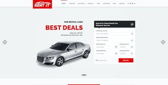 Rent It - Car Rental Management PSD Theme