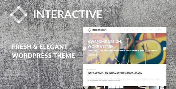 Interactive - Elegant & Creative WordPress Theme - Portfolio Creative