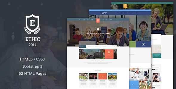 ETHIC - Education, Event and Course HTML Template - Corporate Site Templates