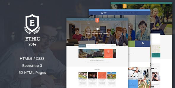 ETHIC - Education, Event and Course HTML Template