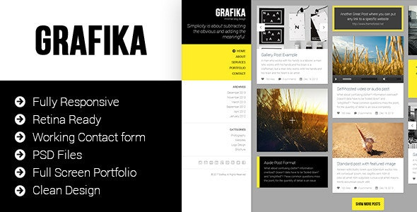 Grafika - Photography & Blog HTML Template - Photography Creative