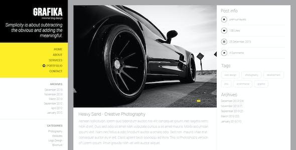 Grafika - Photography & Blog HTML Template