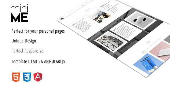 miniMe - Clean & Responsive Template - Personal Site Templates
