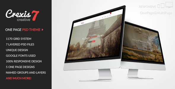 Crexis - One Page PSD Theme - Creative Photoshop
