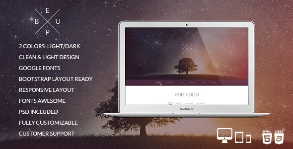 BeUp - One Page Multi Purpose Modern HTML Template - Creative Site Templates