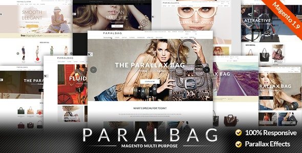 Responsive Magento Themes - Parallax Handbags Bags Store - Fashion Magento