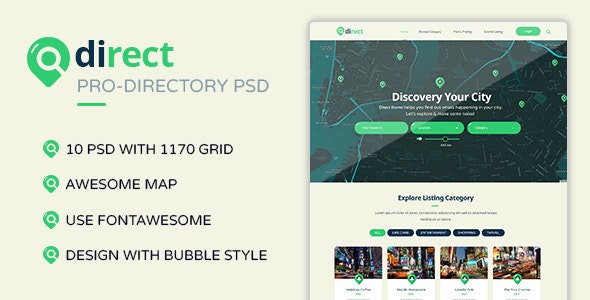 Direct - Pro Directory PSD Template - Miscellaneous Photoshop