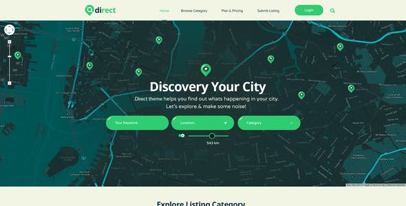 Direct - Pro Directory PSD Template