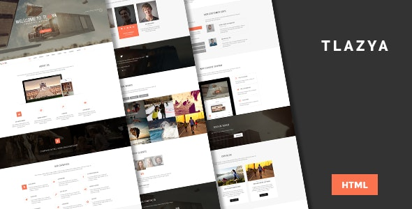 Tlazya - Creative One page HTML Template - Creative Site Templates