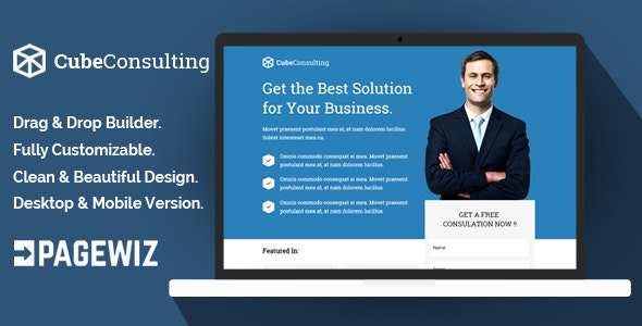 Cube Consulting - Pagewiz Landing Page Template - Pagewiz Marketing