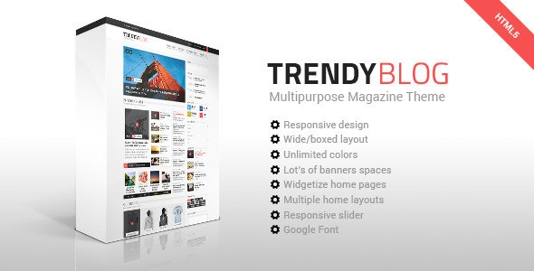 TrendyBlog - Multipurpose Magazine HTML Template - Technology Site Templates