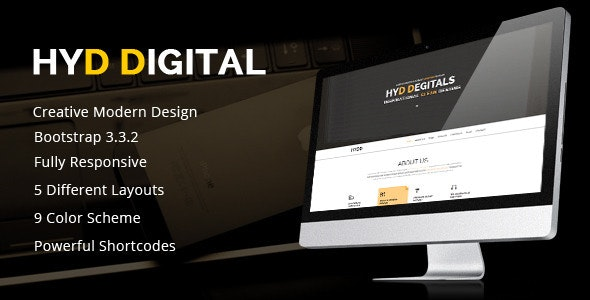 HYD - Multi-Purpose One Page Template - Creative Site Templates