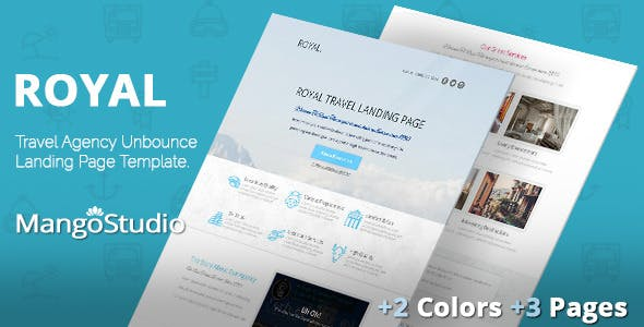 ROYAL - Travel Agency Unbounce Template
