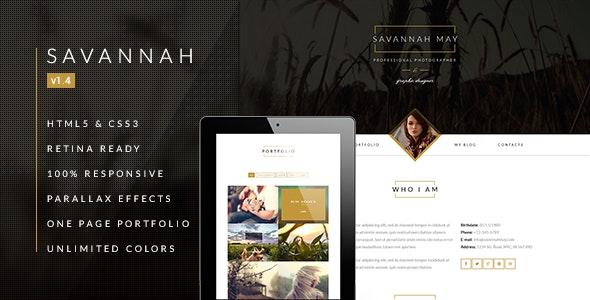 Savannah - Drupal Responsive vCard Portfolio - Drupal CMS Themes