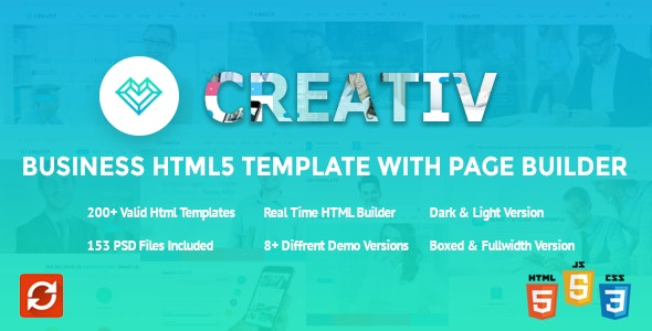 Creativ Business HTML5 Template with Page Builder - Business Corporate