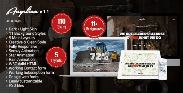 Angelina-Responsive Underconstruction Landing Page - Under Construction Specialty Pages
