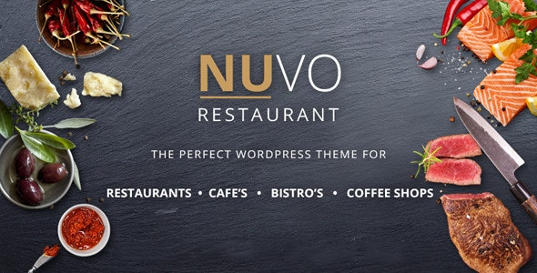 NUVO - Restaurant, Cafe & Bistro Drupal Theme - Food Retail
