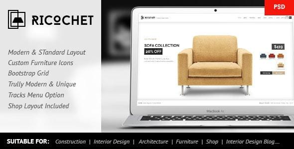 Ricochet - Interior, Architecture, Shop, Corporate - Creative Photoshop