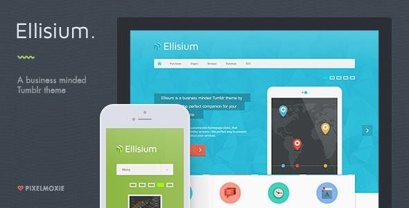 Ellisium - A Business Minded Tumblr Theme - Business Tumblr