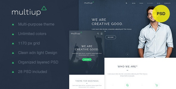 MultiUp — Multi-Purpose Business PSD - Corporate Photoshop