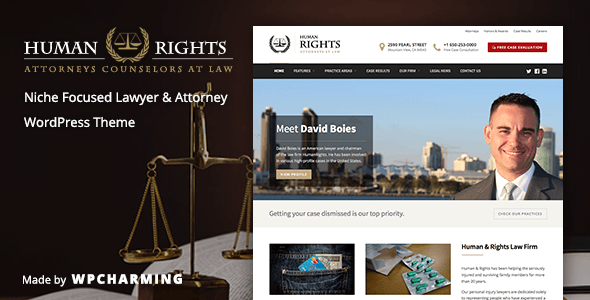 HumanRights - Lawyer and Attorney WordPress Theme - Business Corporate