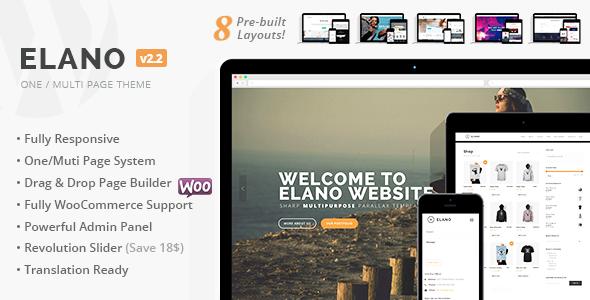 Elano - Multi-Purpose Business & Ecommerce WordPress Theme - Business Corporate