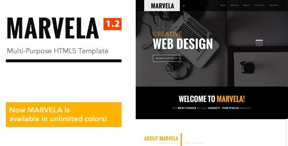 MARVELA - Agency/Portfolio Multi-Purpose HTML5 Template - Corporate Site Templates