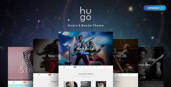 Hugo | Music & Bands PSD Theme