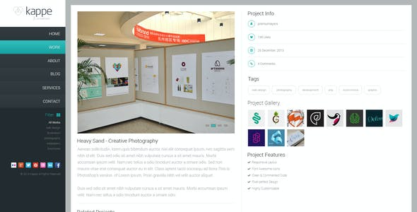 Kappe - Creative Full Screen HTML5 Template