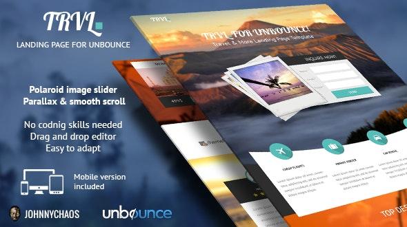 Trvl. - Premium Travel Unbounce Landing Page - Unbounce Landing Pages Marketing