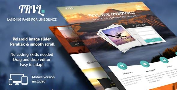 Trvl. - Premium Travel Unbounce Landing Page