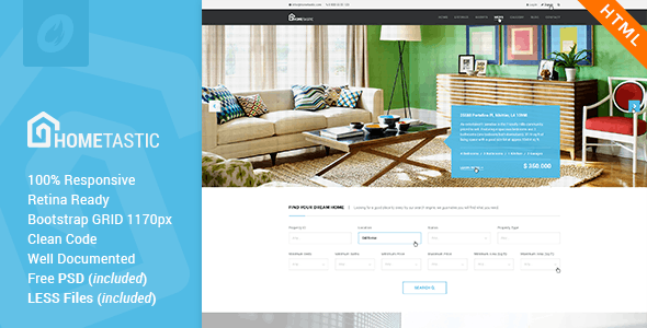 Hometastic - Real Estate HTML5 Template - Business Corporate