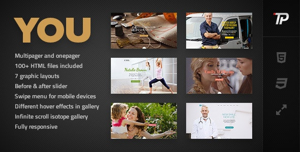 You - Personal HTML Template - Personal Site Templates
