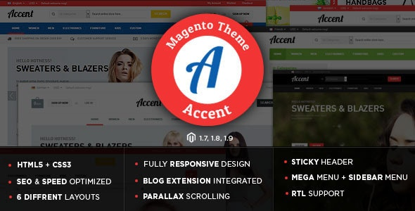 Accent - Gift Store Responsive Magento Theme - Shopping Magento