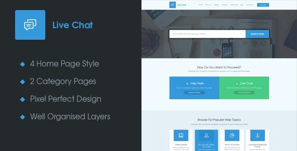 Live Chat - A Help Desk PSD Template - Miscellaneous PSD Templates