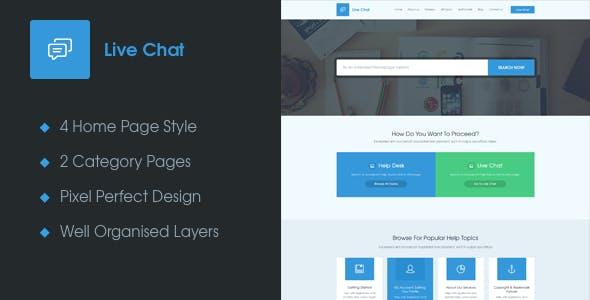 Live Chat - A Help Desk PSD Template
