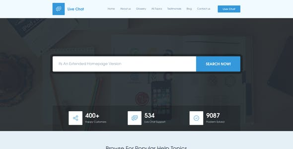 Chatting Website Templates from ThemeForest