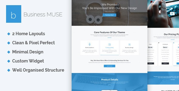 Business - Creative Muse Template - Corporate Muse Templates