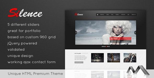 Silence - Premium HTML Template - Photography Creative