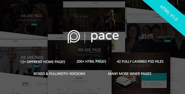 Pace - Responsive MultiPurpose HTML5 Template