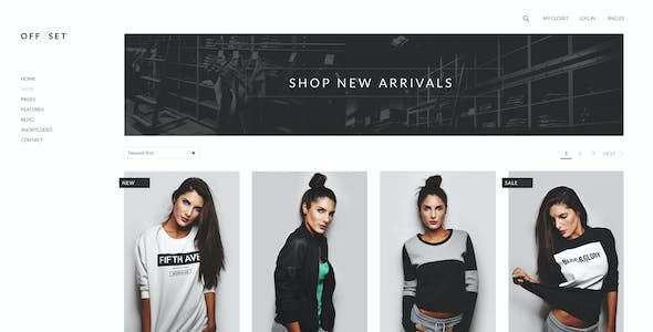 OFFSET - eCommerce PSD Template
