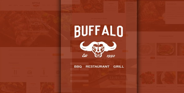 Buffalo Restaurant PSD Template - Food Retail