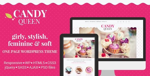 Candy Queen - Responsive Multi-Purpose OnePage WordPress Theme - Creative WordPress